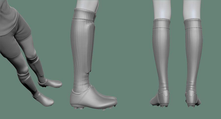 Cartoon Woman Soccer Goal Keeper Sculpt royalty-free 3d model - Preview no. 37