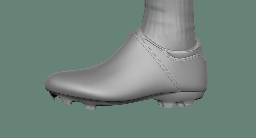 Cartoon Woman Soccer Goal Keeper Sculpt royalty-free 3d model - Preview no. 40