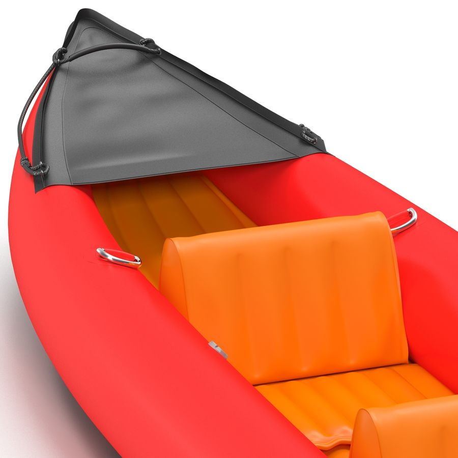 Kayak 3 modelo inflable rojo 3D royalty-free modelo 3d - Preview no. 12