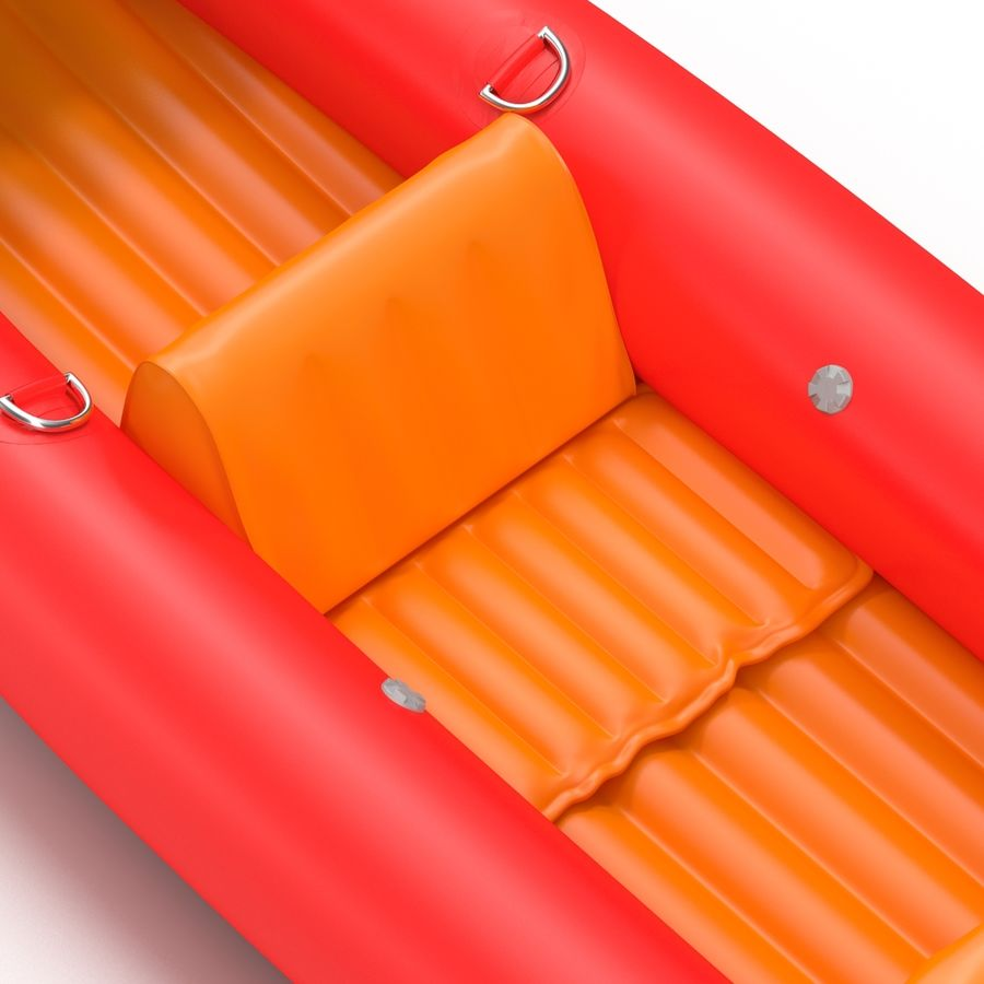 Kayak 3 modelo inflable rojo 3D royalty-free modelo 3d - Preview no. 13