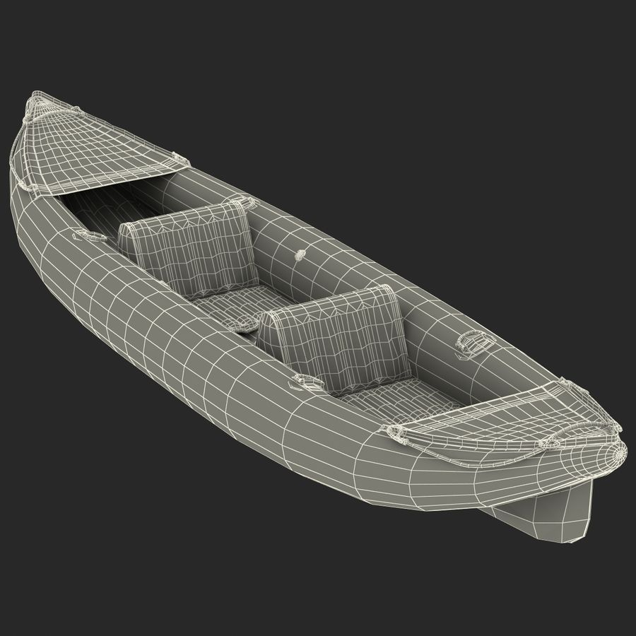 Kayak 3 modelo inflable rojo 3D royalty-free modelo 3d - Preview no. 20