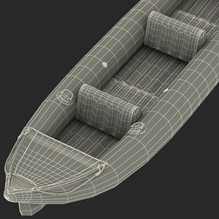 Kayak 3 modelo inflable rojo 3D royalty-free modelo 3d - Preview no. 22