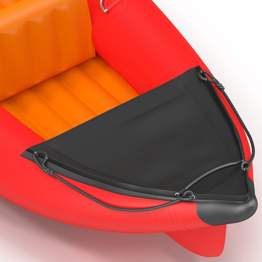 Kayak 3 modelo inflable rojo 3D royalty-free modelo 3d - Preview no. 11
