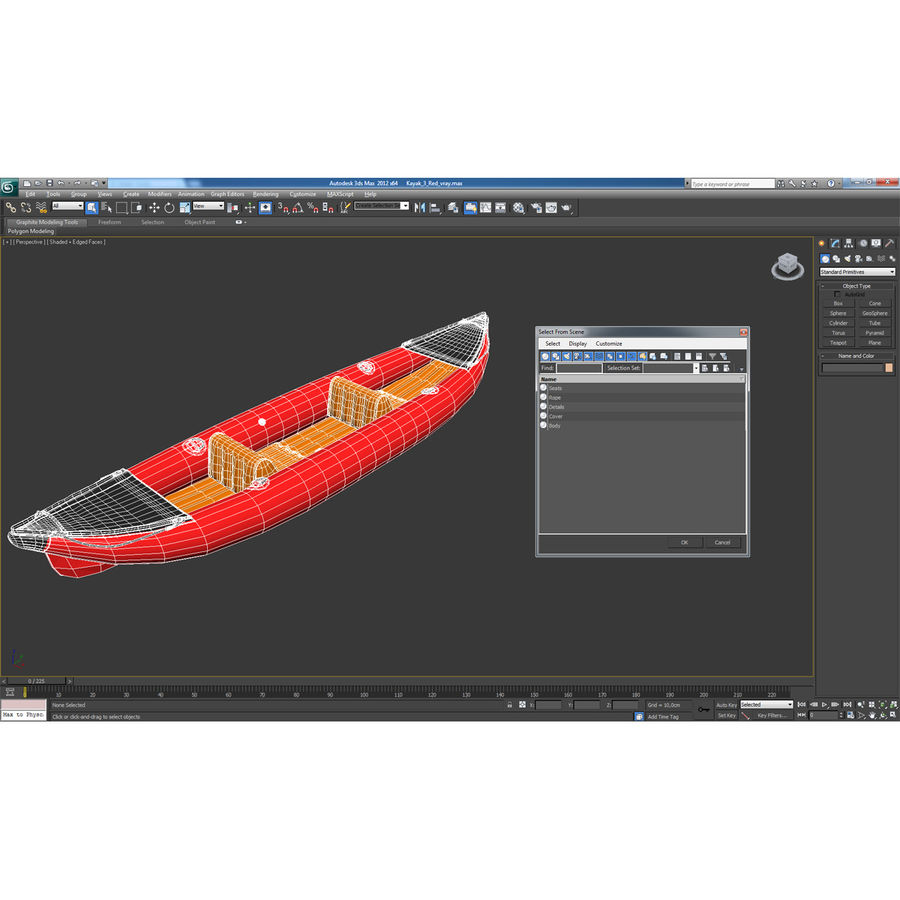 Kayak 3 modelo inflable rojo 3D royalty-free modelo 3d - Preview no. 19