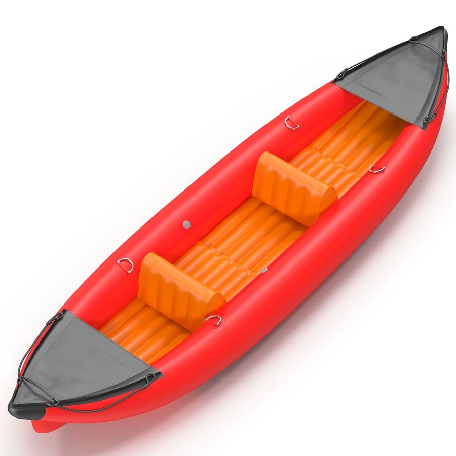 Kayak 3 modelo inflable rojo 3D royalty-free modelo 3d - Preview no. 5