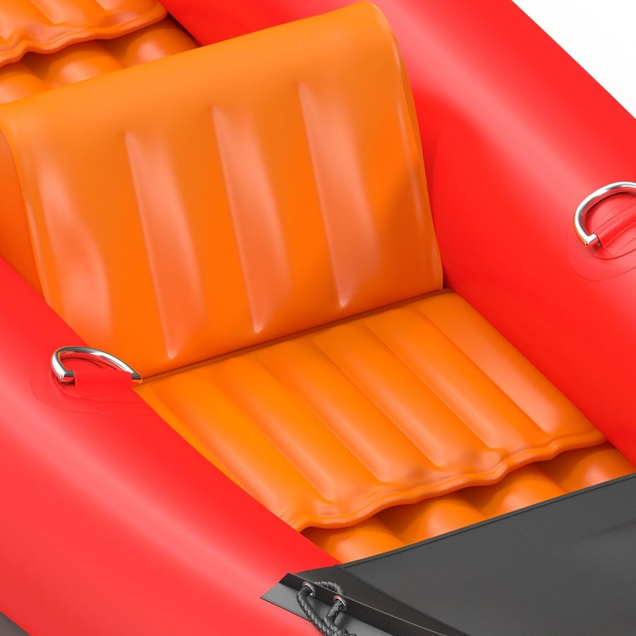 Kayak 3 modelo inflable rojo 3D royalty-free modelo 3d - Preview no. 14