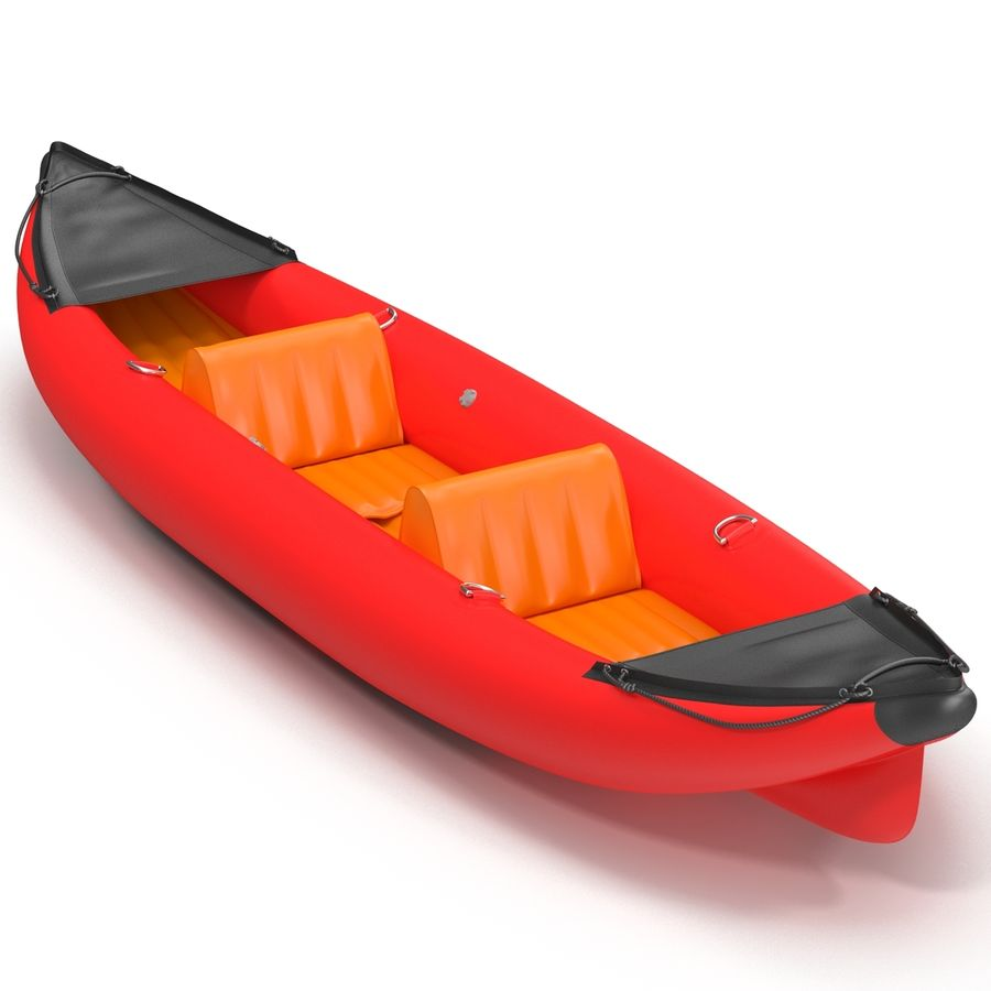 Kayak 3 modelo inflable rojo 3D royalty-free modelo 3d - Preview no. 4