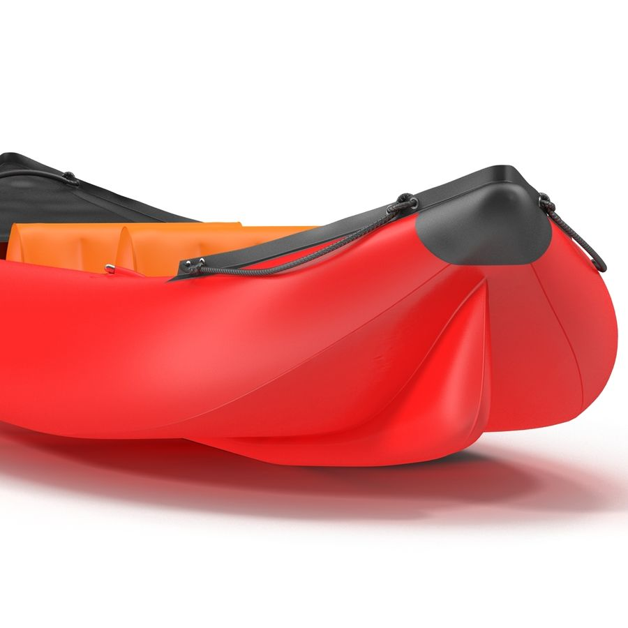 Kayak 3 modelo inflable rojo 3D royalty-free modelo 3d - Preview no. 9