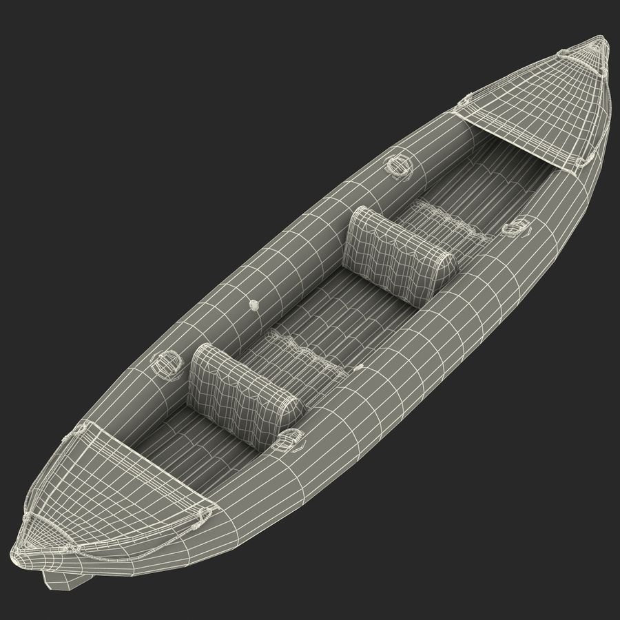 Kayak 3 modelo inflable rojo 3D royalty-free modelo 3d - Preview no. 21