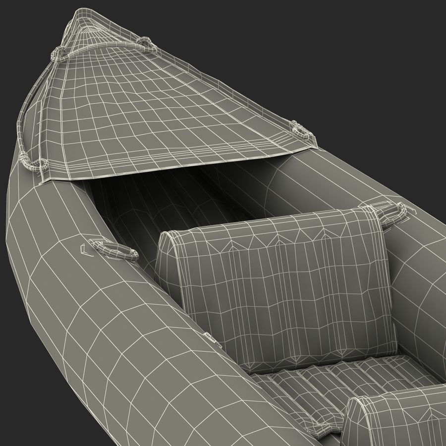 Kayak 3 modelo inflable rojo 3D royalty-free modelo 3d - Preview no. 25