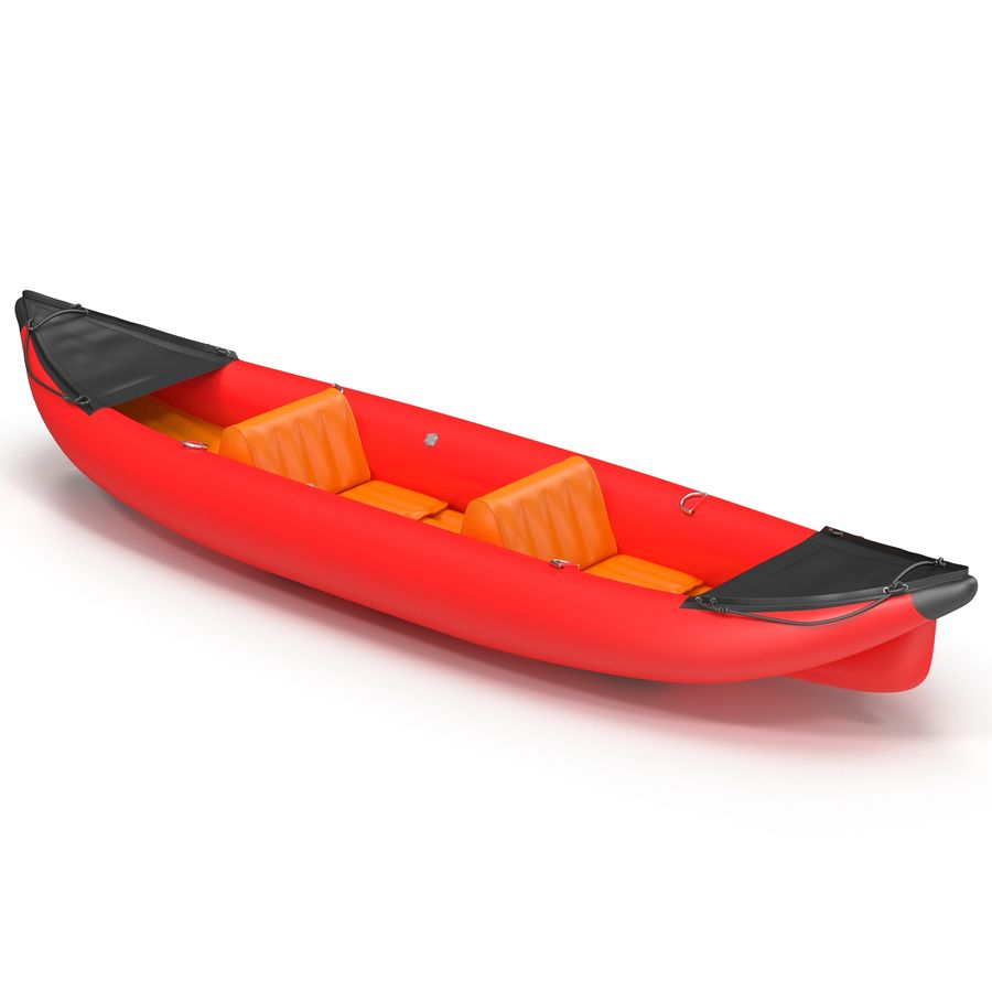 Kayak 3 modelo inflable rojo 3D royalty-free modelo 3d - Preview no. 2