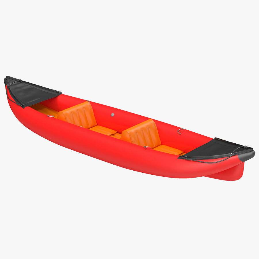 Kayak 3 modelo inflable rojo 3D royalty-free modelo 3d - Preview no. 1