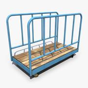 Vecchio carrello di trasporto 3d model