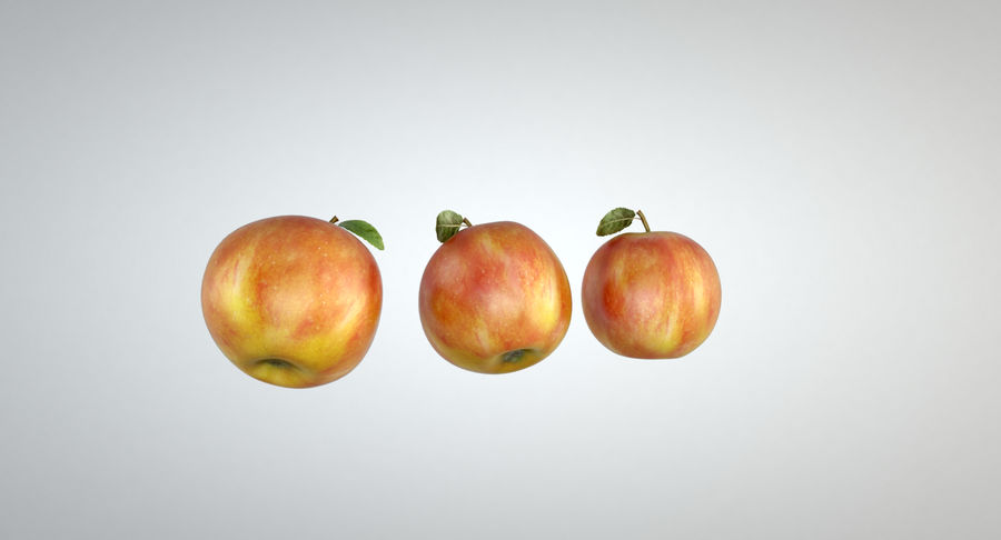 Apple royalty-free 3d model - Preview no. 6