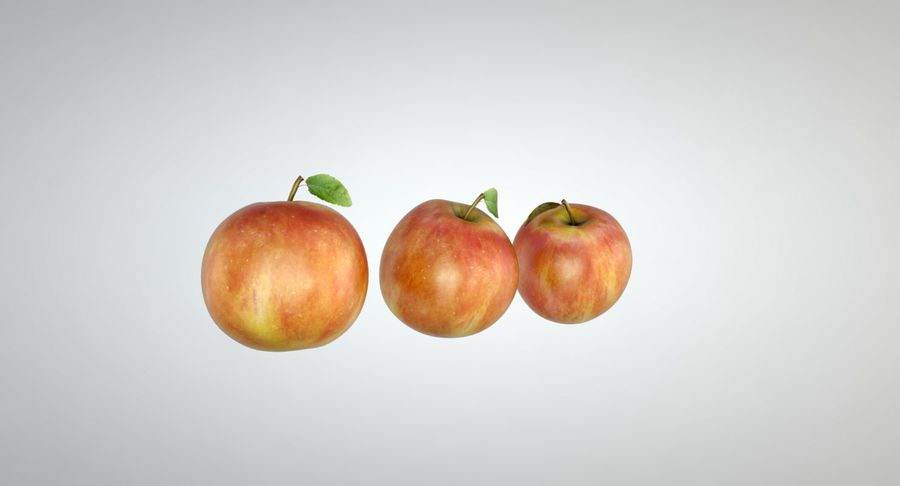Apple royalty-free 3d model - Preview no. 4