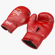 Guantes de boxeo Everlast Red modelo 3d
