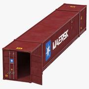 53 ft Nakliye ISO Konteyner Kırmızı 3d model