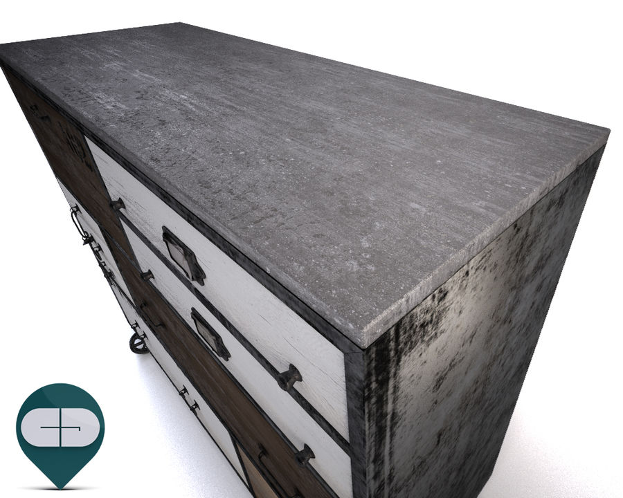 industrial sideboard royalty-free 3d model - Preview no. 5