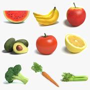 Obst- und Gemüsesammlung 3d model