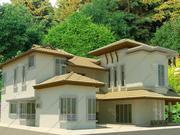 Dom 3 wysoki poli 3d model