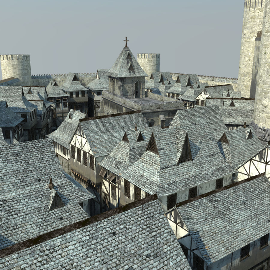 Castle royalty-free 3d model - Preview no. 3