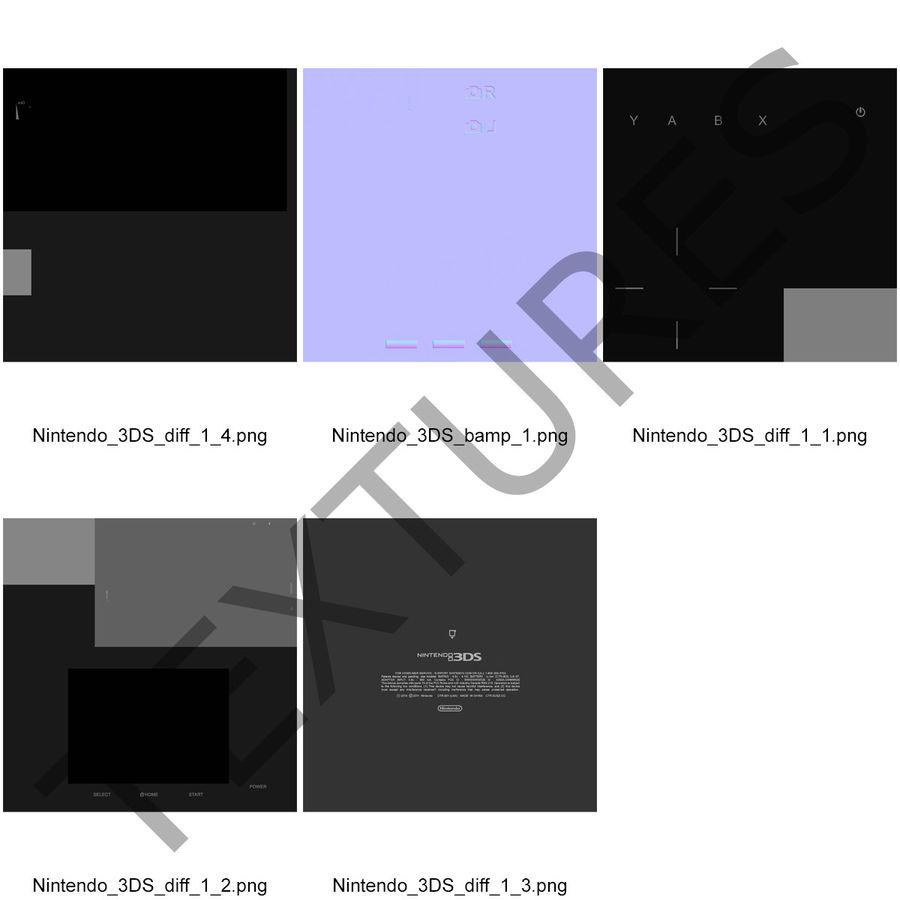Nintendo 3DS Black royalty-free 3d model - Preview no. 30