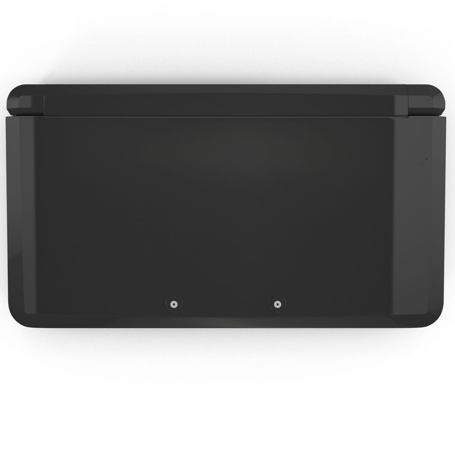 Nintendo 3DS Black royalty-free 3d model - Preview no. 19