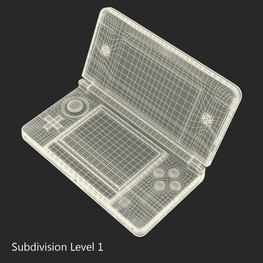 Nintendo 3DS Black royalty-free 3d model - Preview no. 26