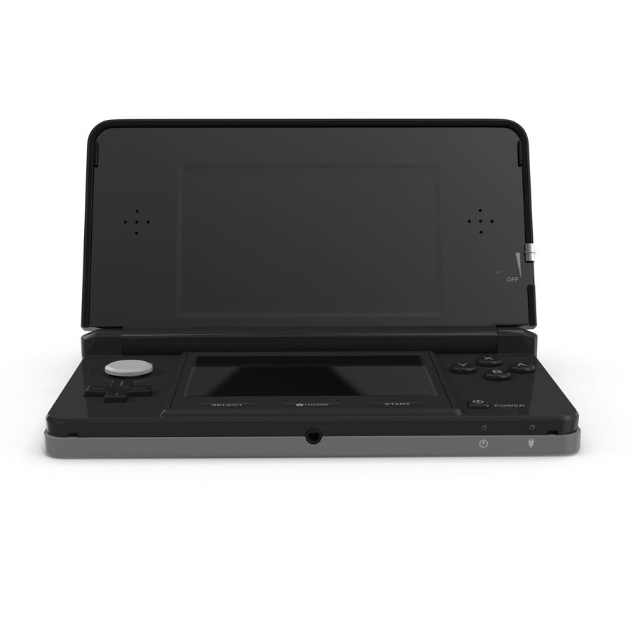 Nintendo 3DS Black royalty-free 3d model - Preview no. 4