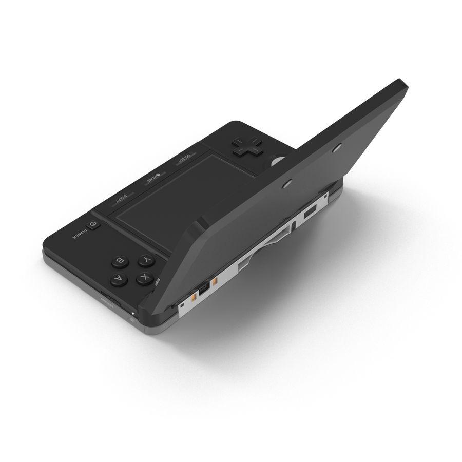 Nintendo 3DS Black royalty-free 3d model - Preview no. 9