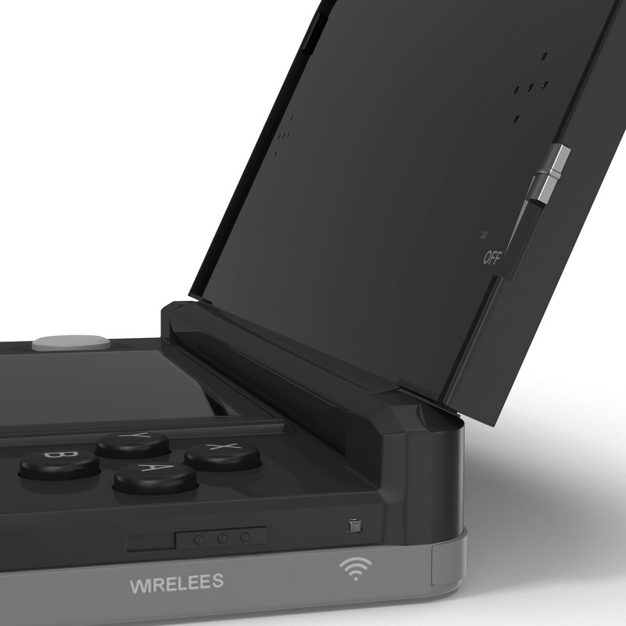 Nintendo 3DS Black royalty-free 3d model - Preview no. 24