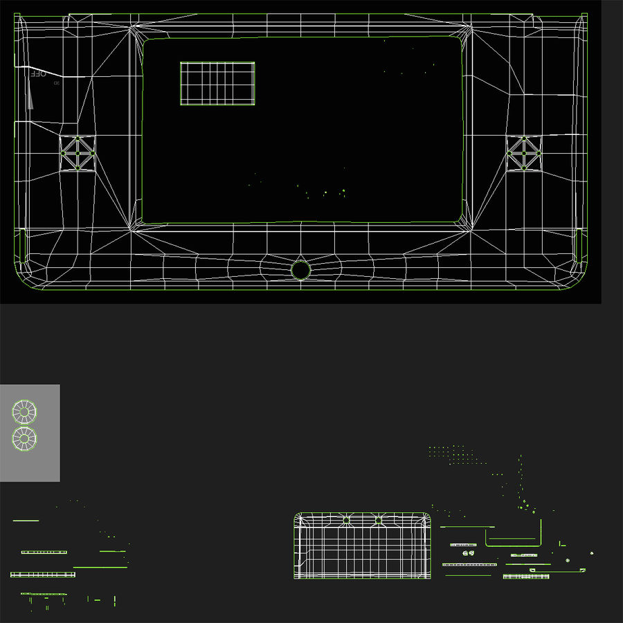 Nintendo 3DS Black royalty-free 3d model - Preview no. 29