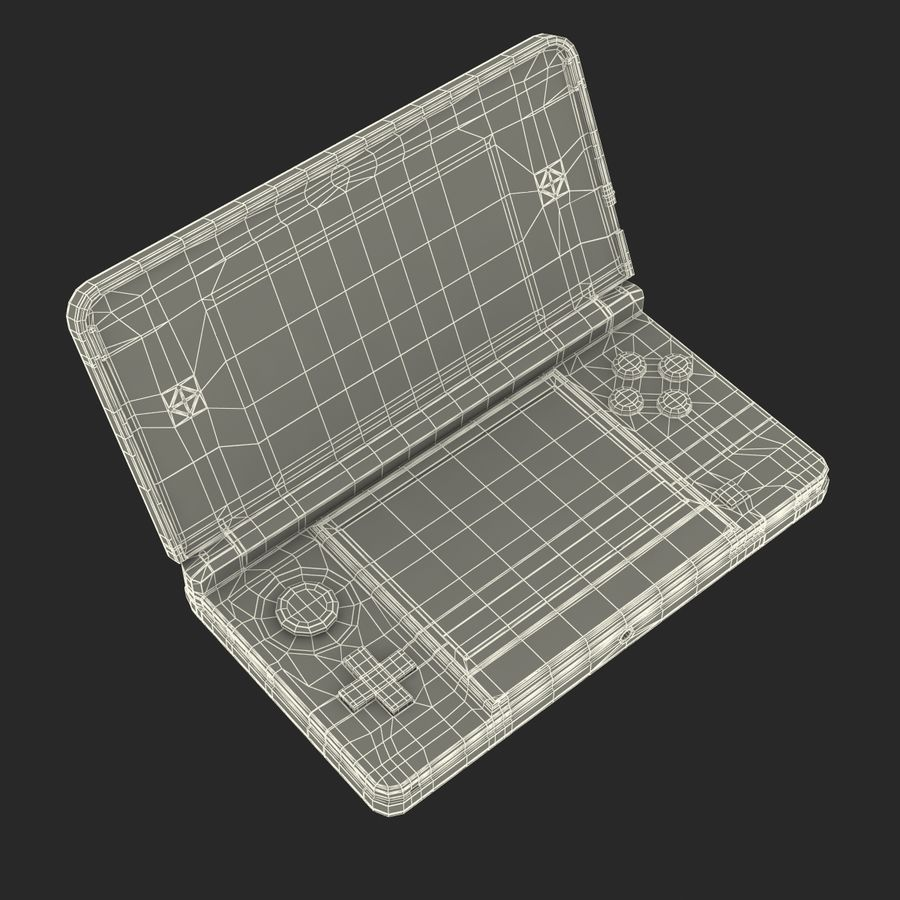 Nintendo 3DS Black royalty-free 3d model - Preview no. 32