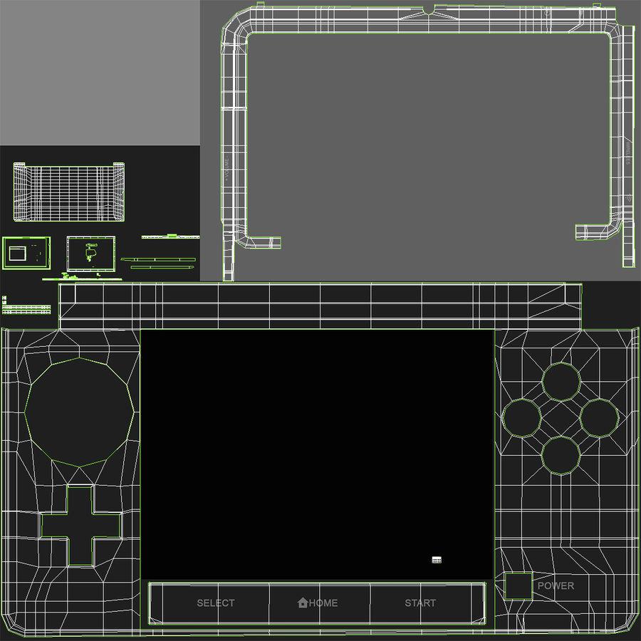 Nintendo 3DS Black royalty-free 3d model - Preview no. 27