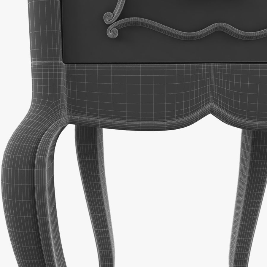 French Nightstand royalty-free 3d model - Preview no. 21