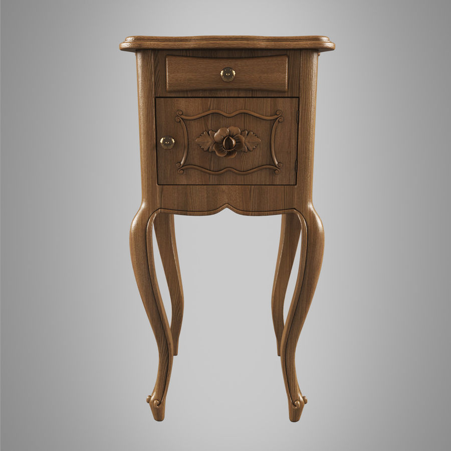 French Nightstand royalty-free 3d model - Preview no. 2