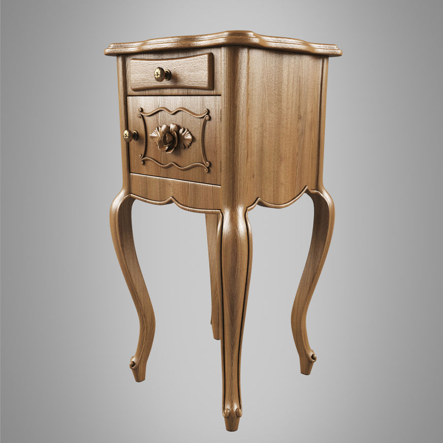French Nightstand royalty-free 3d model - Preview no. 3