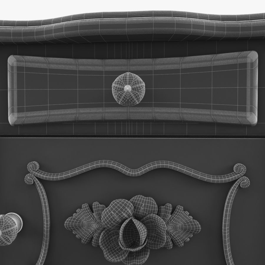 French Nightstand royalty-free 3d model - Preview no. 12