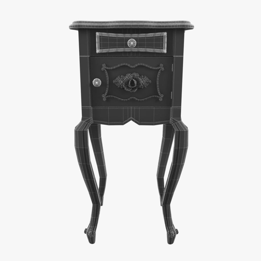 French Nightstand royalty-free 3d model - Preview no. 9