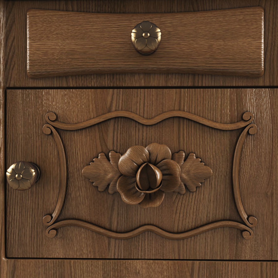 French Nightstand royalty-free 3d model - Preview no. 6