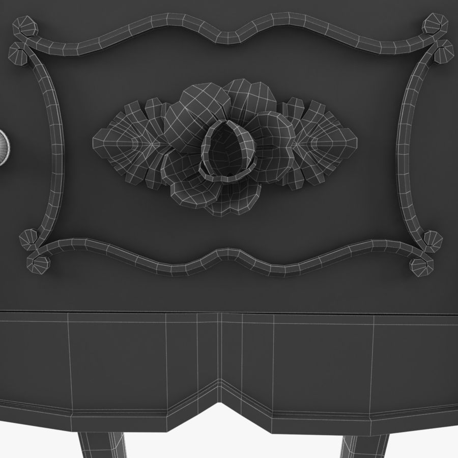 French Nightstand royalty-free 3d model - Preview no. 16