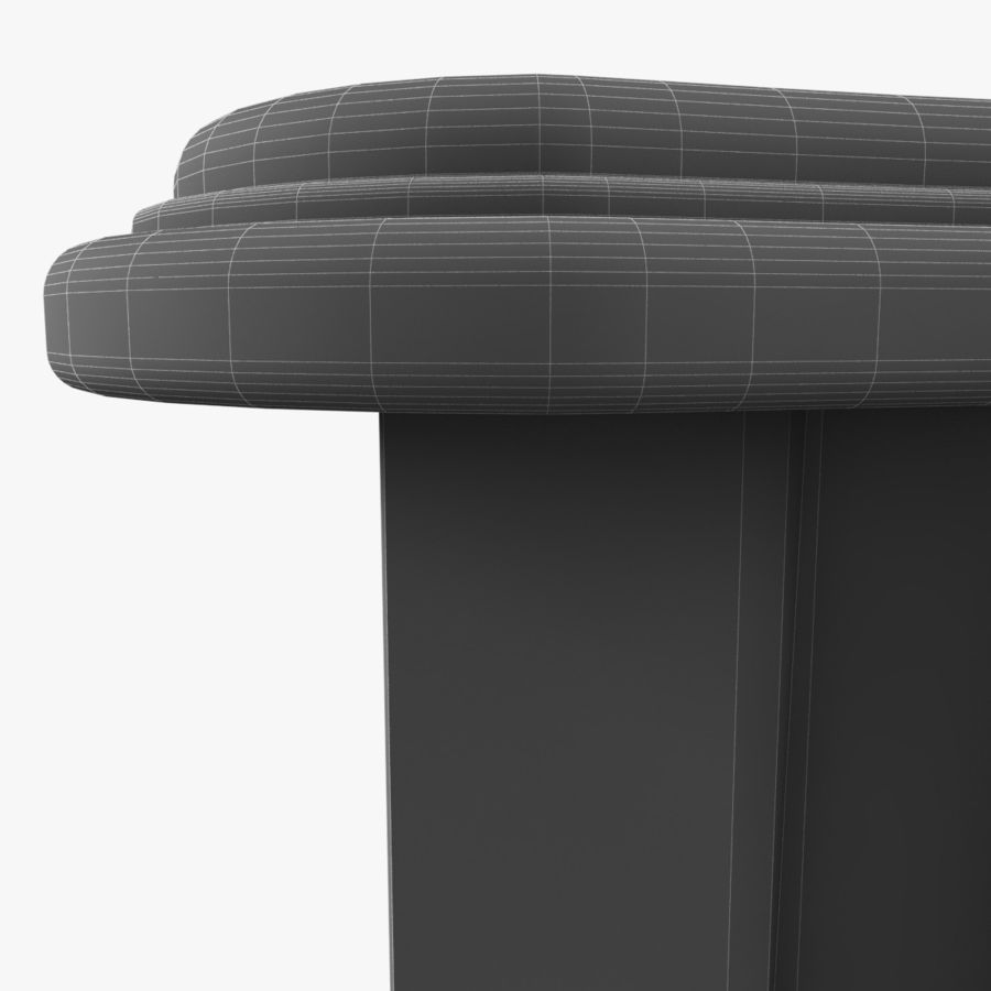 French Nightstand royalty-free 3d model - Preview no. 14