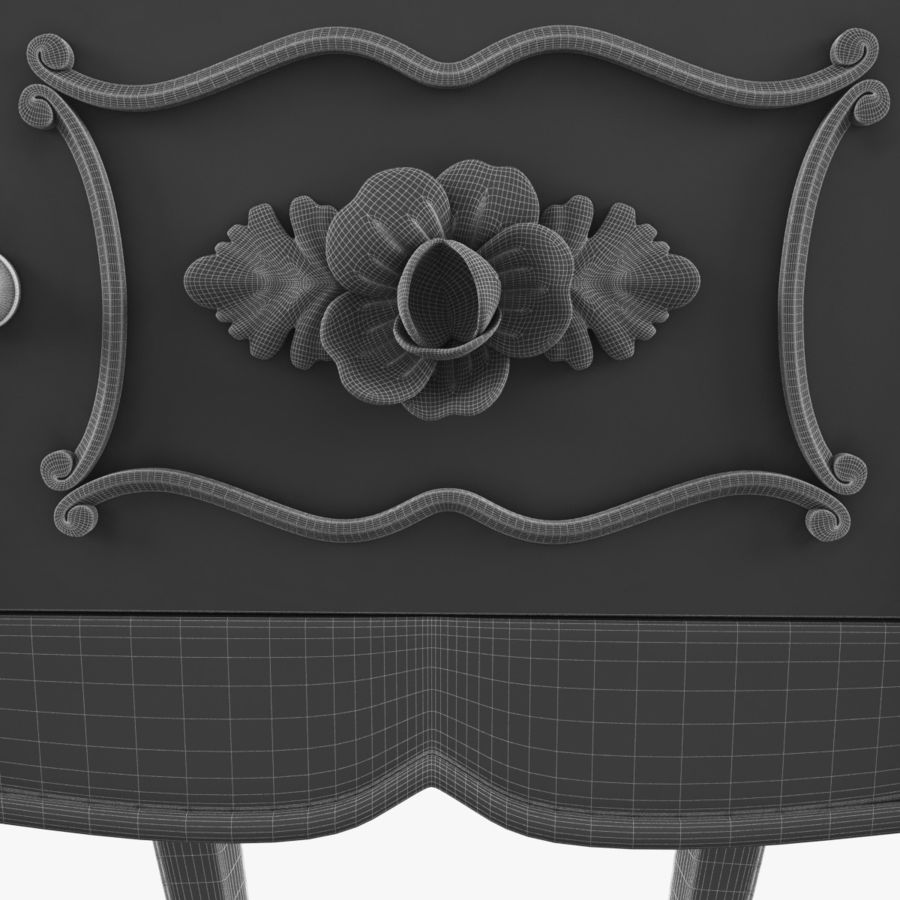 French Nightstand royalty-free 3d model - Preview no. 18