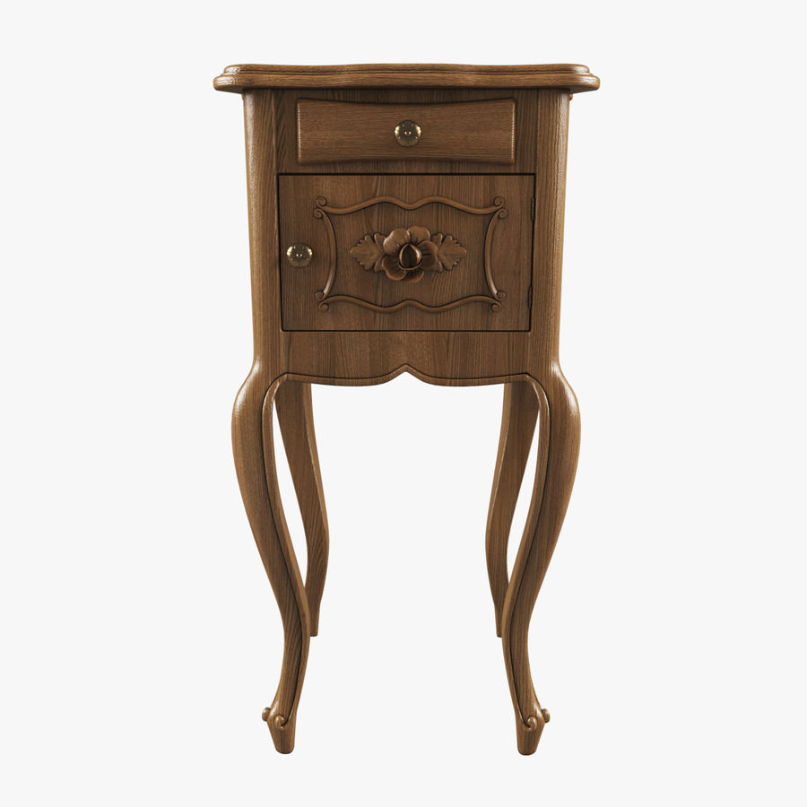 French Nightstand royalty-free 3d model - Preview no. 1