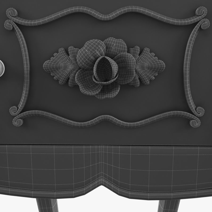 French Nightstand royalty-free 3d model - Preview no. 17