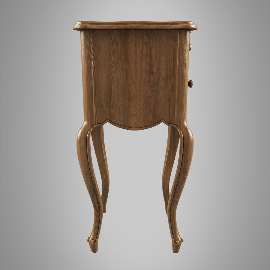 French Nightstand royalty-free 3d model - Preview no. 4