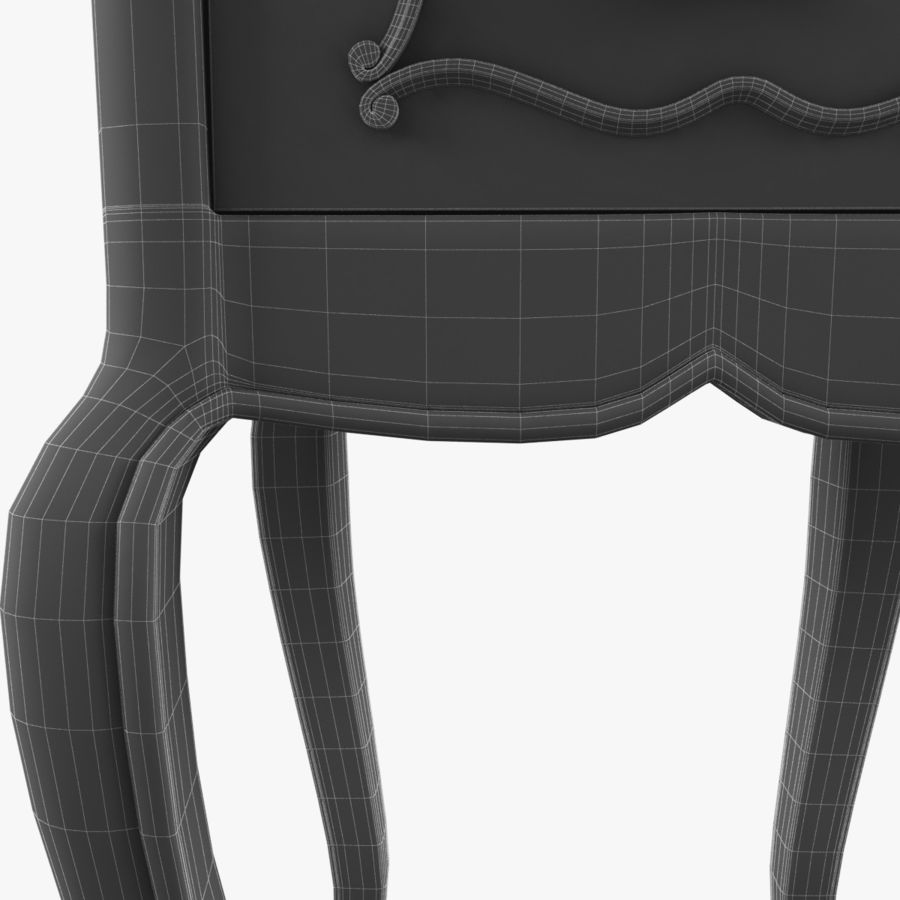 French Nightstand royalty-free 3d model - Preview no. 20