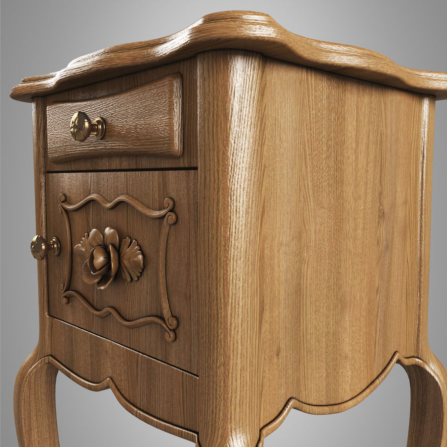 French Nightstand royalty-free 3d model - Preview no. 7