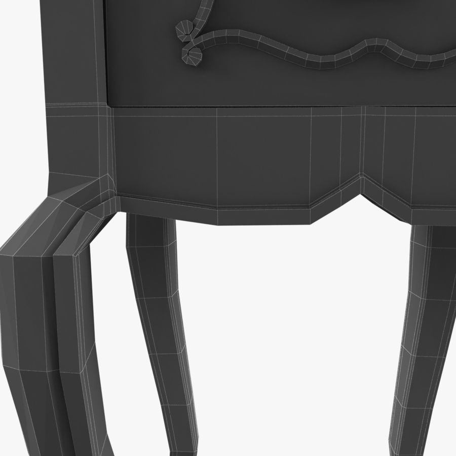 French Nightstand royalty-free 3d model - Preview no. 19