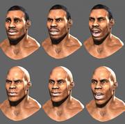 Head Male african 3 3d model